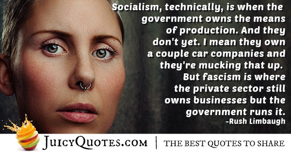 Government Runs It Quote