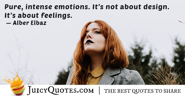 About Feelings Quote