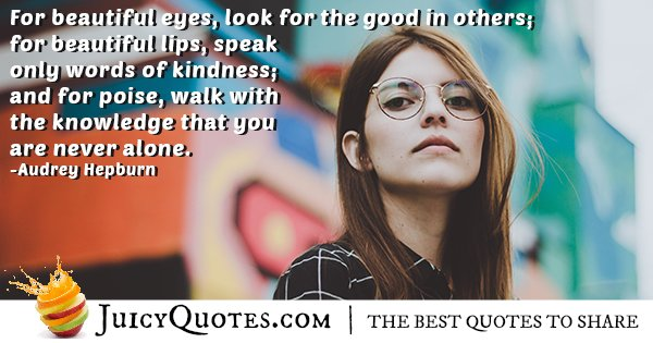Beautiful Eyes Quote