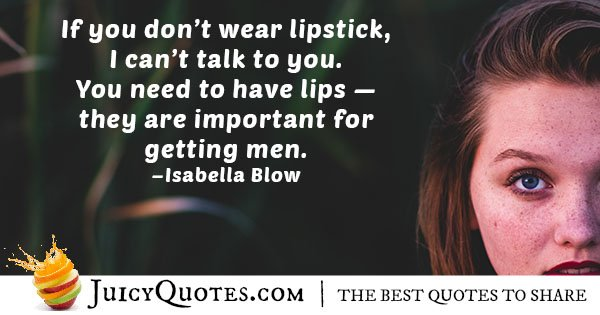 Wear Lipstick Quote