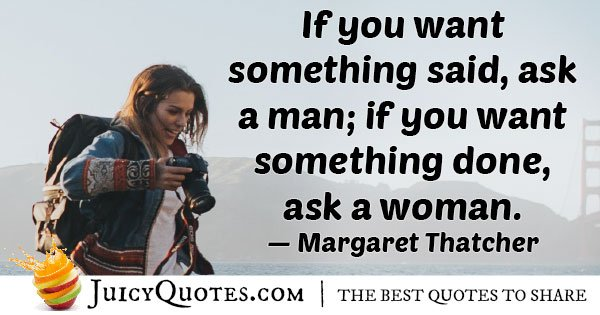 Ask A Woman Quote