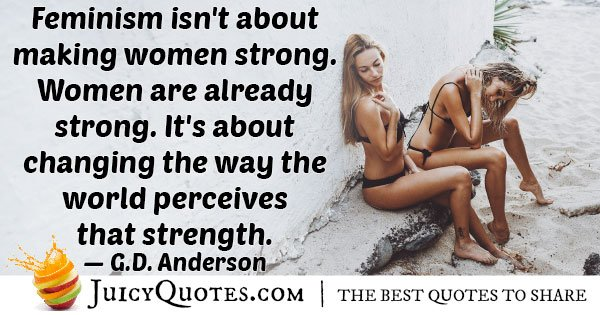Woman Are Strong Quote