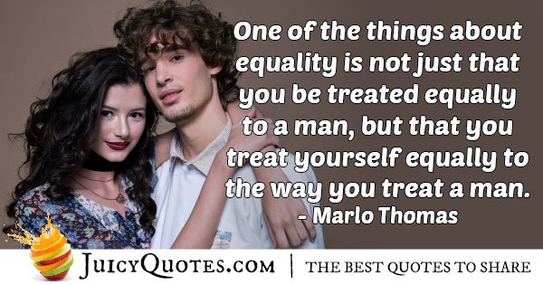 Treat Yourself Equally Quote