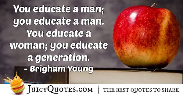 Educate a Generation Quote