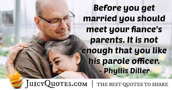 Meet Fiance's Parents Quote