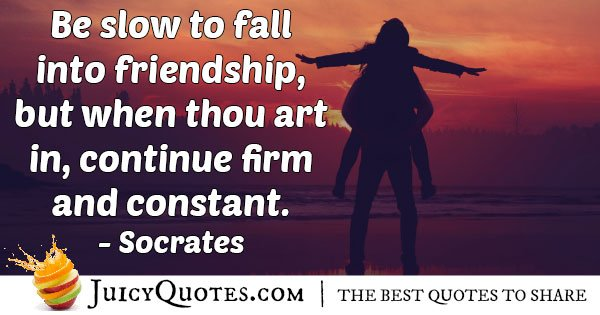Fall into Friendship Quote