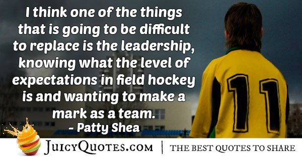 Field Hockey Leadership Quote