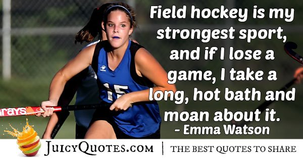 Field Hockey Bath Quote