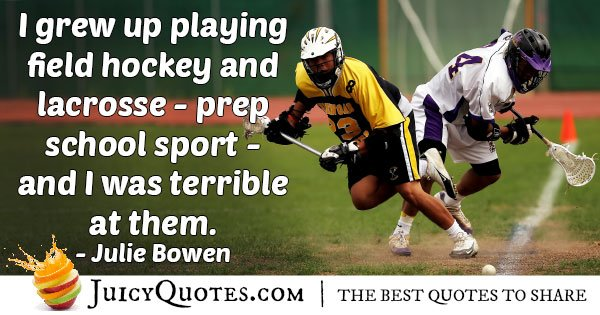 Playing Field Hockey Quote