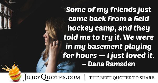 Field Hockey Camp Quote