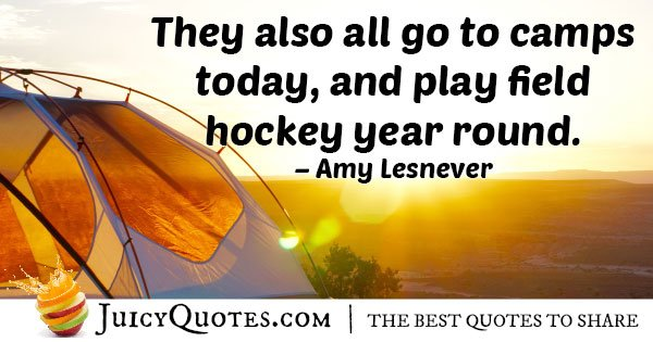Play Field Hockey Quote