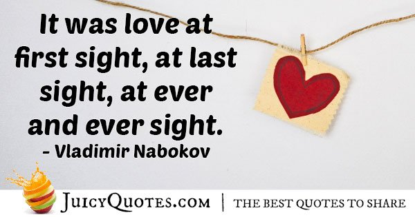 First Love At First Sight Quote