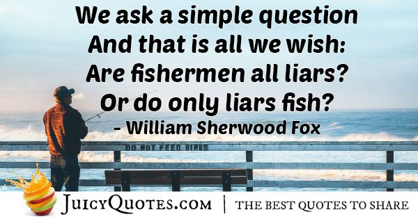 Fishing Liars Quote