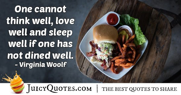 Dine Well Quote