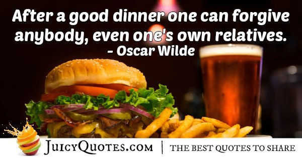 Forgive After Food Quote