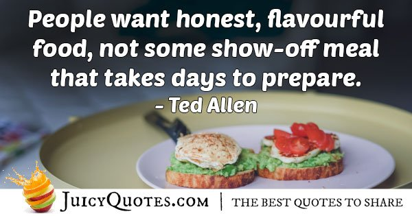 Honest Food Quote