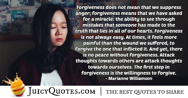 Willingness To Forgiveness Quote