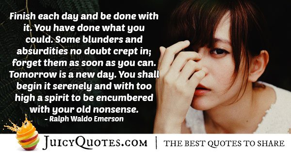 Tomorrow is a New Day Quote