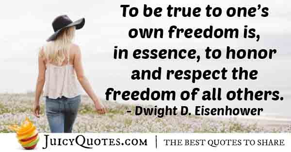 Own Freedom Quote