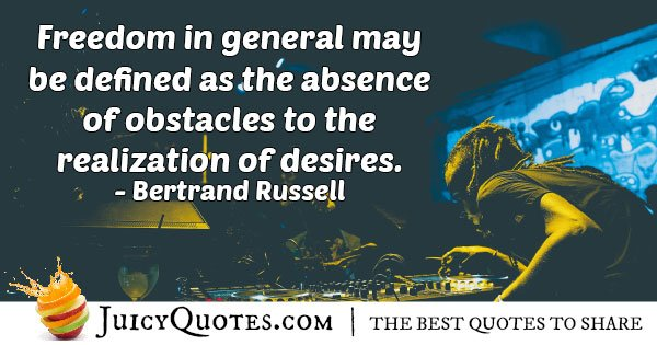 Absence of Obstacles Quote
