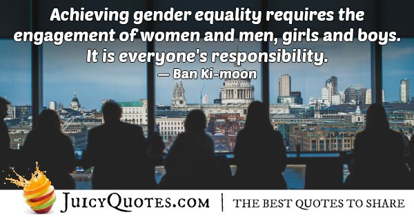 Achieving Gender Equality Quote