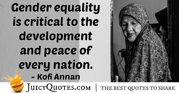 Gender Equality for Peace Quote