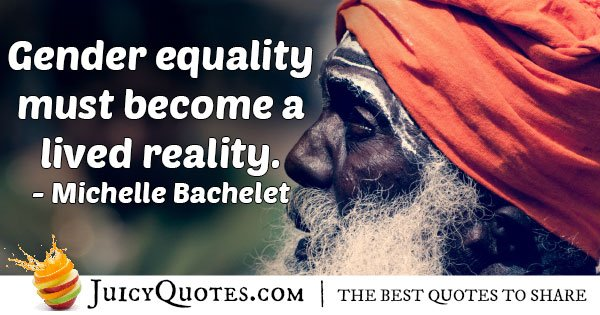 Reality for Gender Equality Quote