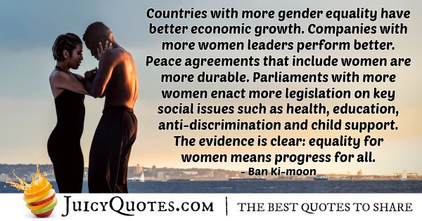Gender Equality Economic Growth Quote