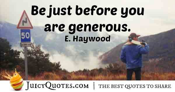 Just before Generosity Quote