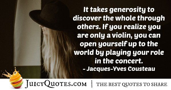 Generosity To Discover Quote