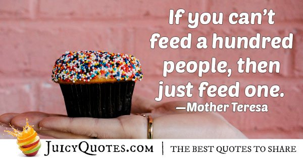 Feed One Quote