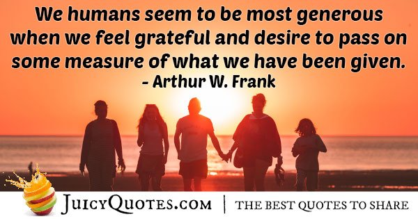 Generosity and Grateful Quote