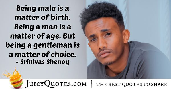 Gentleman's Choice Quote