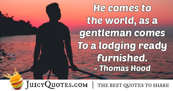 Furnished Gentleman Quote