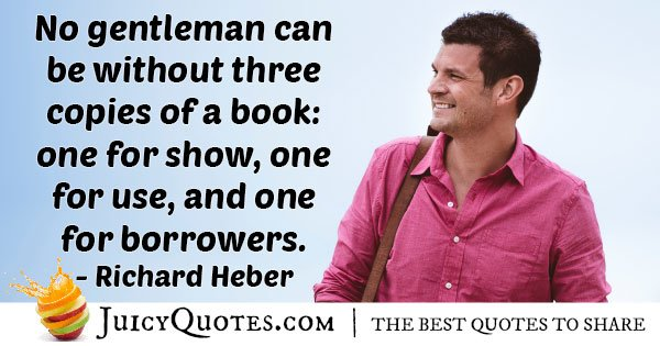 Gentleman with 3 Books Quote