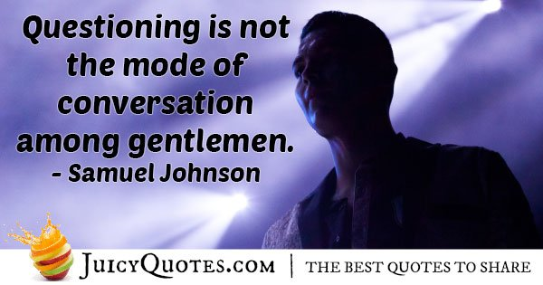 Conversation of Gentleman Quote