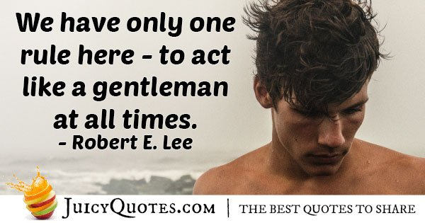 Gentleman One Rule Quote