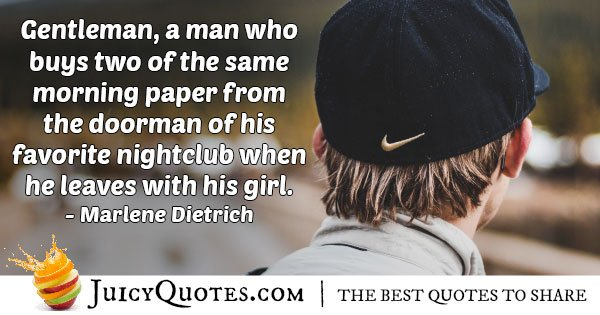 Gentleman with his Girl Quote