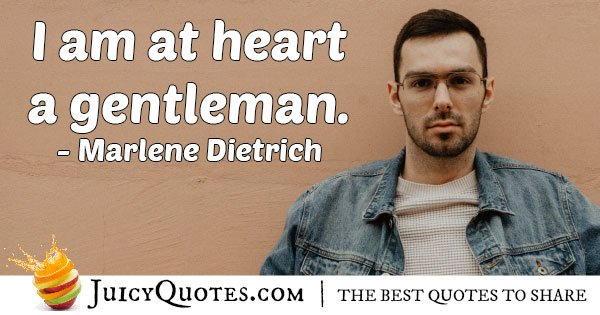 Gentleman st Heart Quote