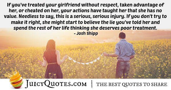 Girlfriend Poor Treatment Quote