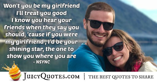Be My Girlfriend Quote