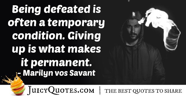 Giving Up Permanently Quote