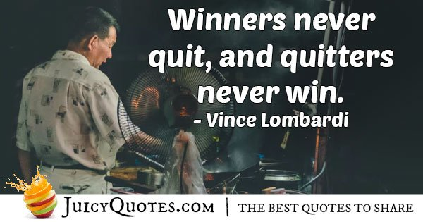 Winning VS Giving Up Quote
