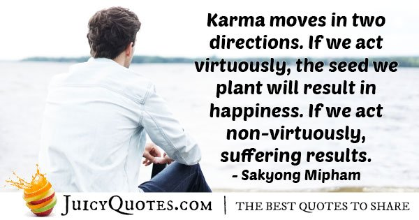 Karma in Two Directions Quote