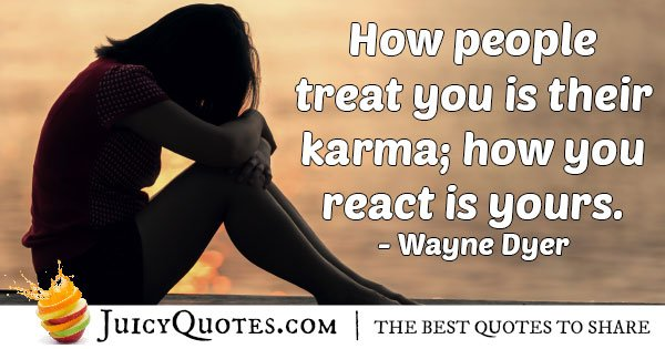 Karma and Relationships Quote