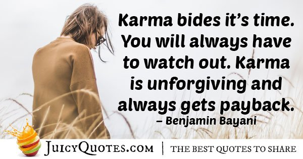 Karma Gets Payback Quote