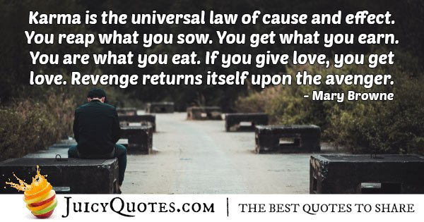 Karma's Universal Law Quote
