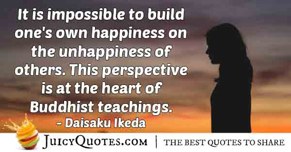 Building Happiness Quote
