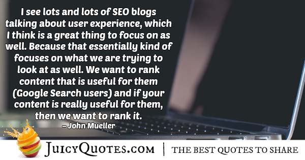 SEO That Is Natural Quote