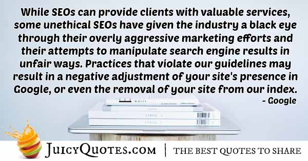 Unethical SEO Quote